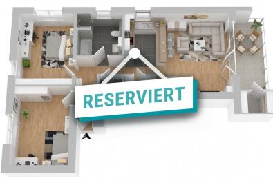NEUBAU/Erstbezug zum 01.08.20 : Großzügige und moderne 3-Zi-Wohnung mit Balkon und Aufzug im 1. OG!